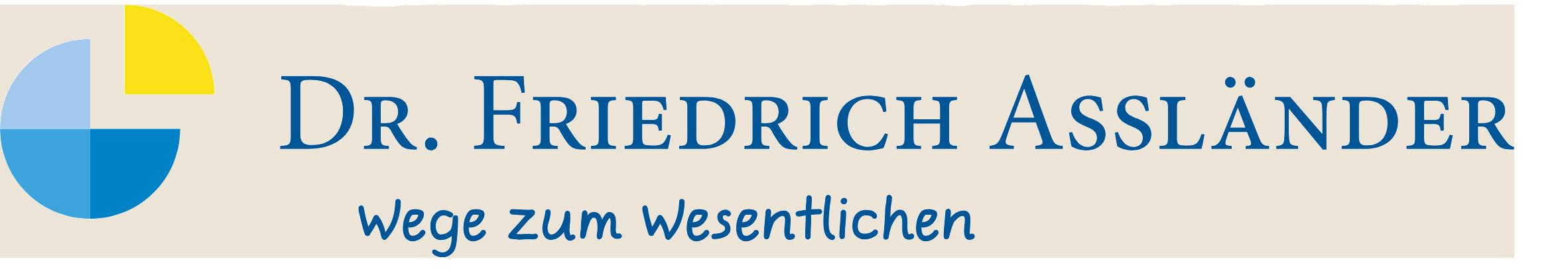 Dr. Friedrich Assländer
